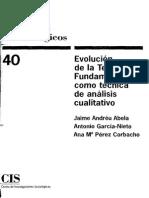 Andréu Et Al - Componentes Claves de La Grounded Theory