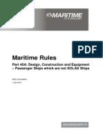 Part40A Maritime Rule Current