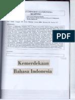 Kemerdekaan Bahasa Indonesia