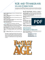 Fantasy Age and Titans Grave Errata