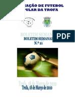 Boletim Semanal N. 21 2009-2010