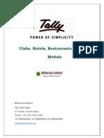 User Manual Hotel Bar Restarc