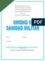 Informe de Din 8 Sanidad Militar