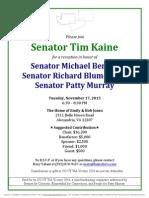 Reception for Patty Murray, Michael Bennet, Richard Blumenthal