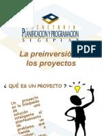 La Preinversión y Los Proyectos