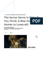 A New History of the Horror Story- From Homer to Lovecraft | Flavorwire