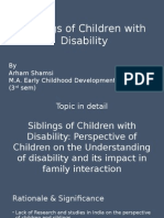 Dissertation Proposal- sibling of children with disability