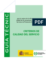 Criterios Calidad Del Servicio Construcción