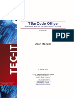 TBarCodeOffice10 User Manual En