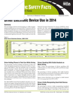 Driver Electronic Device Use in 2014, United States