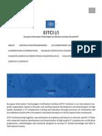 EITCI, The European IT Certification Institute _ EITCI