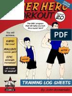 SuperHero TrainingLogSheets