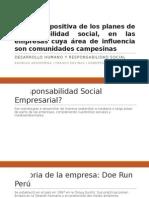 Evolución Positiva de Los Planes de Responsabilidad Social