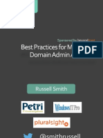 Domain Admins Best Practices