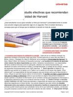 5 Tecnicas Estudio Efectivas Recomiendan Universidad Harvard