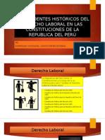 Antecedentes Históricos Del Derecho Laboral en Las Constituciones Dela Republica Del Perú