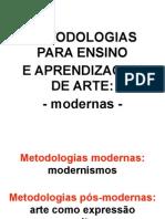 Metodologias Para Ensino de Arte - Modernas