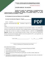 Requerimento Para Inscricao de Chapa Coordenadorias Regionais