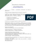Generalidades de La Epidemiologia