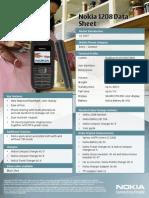 Nokia 1208 Data Sheet