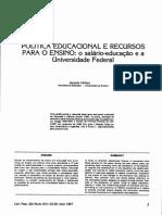 VELLOSO,J. Política Educacional e Recursos para o Ensino..pdf
