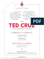 Fundraising Luncheon for Ted Cruz
