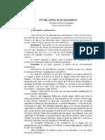 EL VALOR ESTÉTICO DE LAS MATEMÁTICAS - Antonio Durán Guardeño. Universidad de Sevilla
