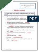 Q1 Exam Model Answer