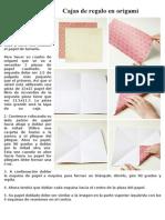 Cajas de Regalo en Origami