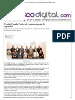 29-09-15 Preside Claudia Pavlovich reunión regional de seguridad - Peñasco Digital