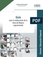 INEE Guía para la elaboración de la Ruta de Mejora Argumentada para el Director de Educación Especial