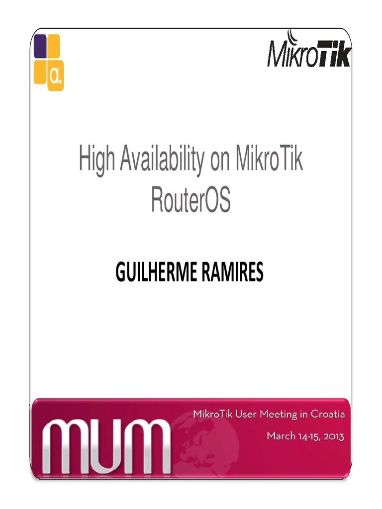 Manual VRRP Mikrotik   Routing   Computer Network
