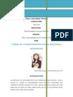 CÓDIGO DE COMPORTAMIENTO MORAL, PERSONAL Y PROFESIONAL