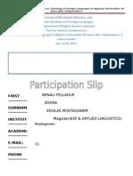 Conference Participation 2