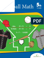 Baseball Math Workbook