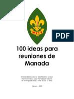 100 Ideas en Reunion de Manada