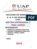 Leasing o arrendamiento financiero
