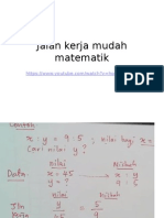 Jalan Kerja Mudah Matematik