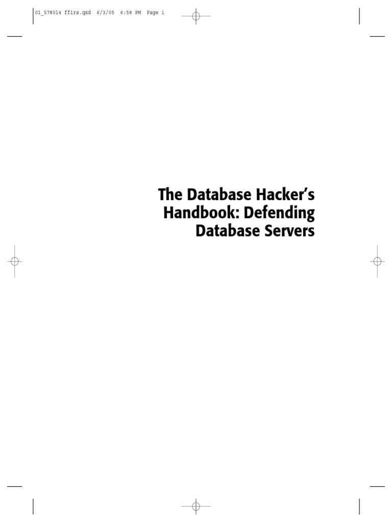 the database hackers handbook pdf oracle database ibm db2 rh scribd com