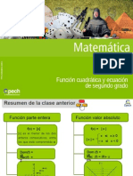 Clase 24 Función Cuadrática y Ecuación de Segundo Grado
