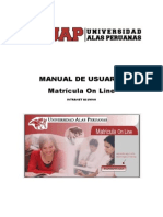 Matricula on-Line ALUMNO UAP