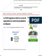 Curso de Especialista en Control de Predadores en Albacete - Mundodecaza