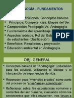 FUNDAMENTOS DE ANDRAGOGIA