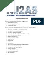 NJ2AS QueSecond Amendment Society Presidential Questionnairestionnaire