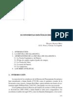 ECONOMISTAS ESPAÑOLES DEL SIGLO XVI - MANUEL ORAMAS. I.E.S. Viera y Clavijo. La Laguna