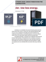 Workstation heat and power usage