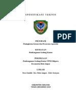 A. Spesifikasi Teknis Uptd Batu Ampar