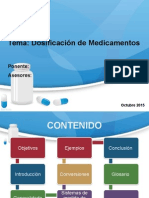 Expo Dosificacion de Medicamentos
