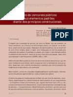 Editais de Concursos Públicos e Seus Elementos Padrões-TCE