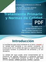 Tratamiento Primario y Normas de Calidad